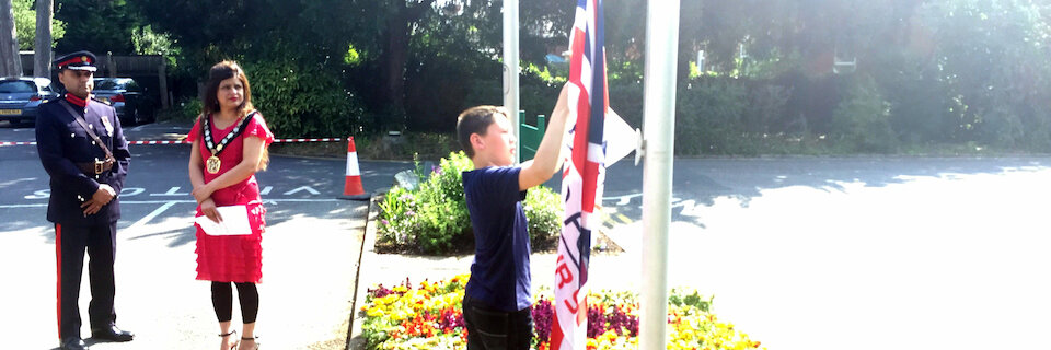 Armed Forces Day flag raised