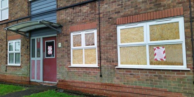 Closed Council Flat at Boulter Crescent, Wigston