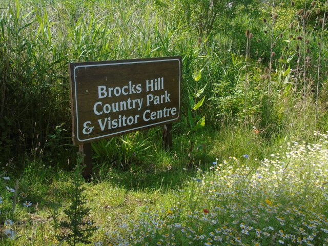 Brocks Hill sign