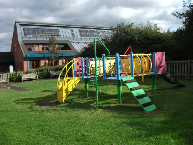 The small play area at Brocks Hill Visitor Centre and Country Park