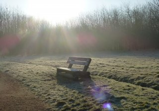 A sponsored bench at Brocks Hill Country Park and Centre