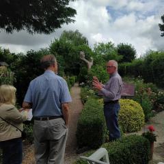 East Midlands in Bloom judges enjoy the Victorian Garden at Wigston Framework Knitters Museum