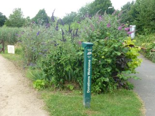 The donation post for the Friends of Brocks Hill Country Park