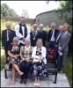 Memorial bench group photo